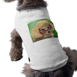 Verres de port de caniche d'abricot manteaux pour animaux domestiques