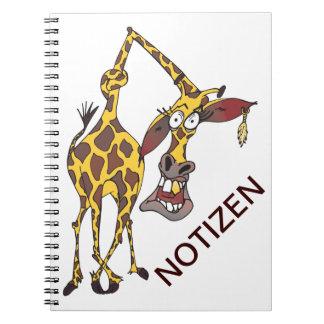 verrückte lustige Giraffe mit Ohrring Notiz Buch