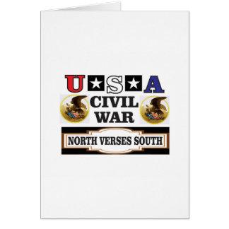 Vers du nord de guerre civile des Etats-Unis du Carte De Vœux