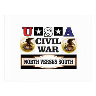 Vers du nord de guerre civile des Etats-Unis du Carte Postale