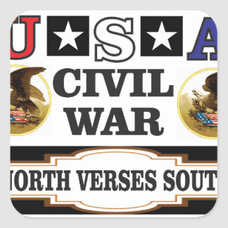 Vers du nord de guerre civile des Etats-Unis du Sticker Carré
