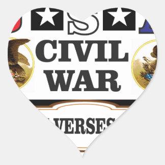 Vers du nord de guerre civile des Etats-Unis du Sticker Cœur