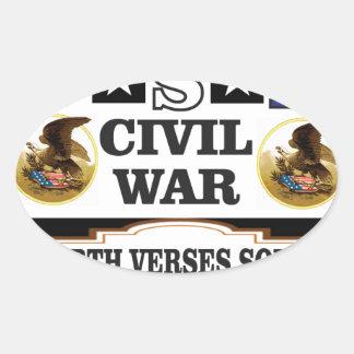 Vers du nord de guerre civile des Etats-Unis du Sticker Ovale