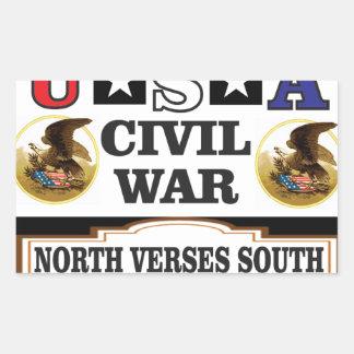 Vers du nord de guerre civile des Etats-Unis du Sticker Rectangulaire
