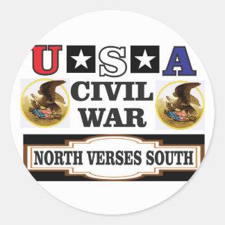 Vers du nord de guerre civile des Etats-Unis du Sticker Rond