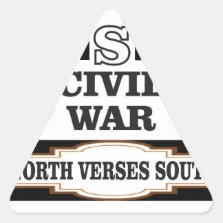 Vers du nord de guerre civile des Etats-Unis du Sticker Triangulaire