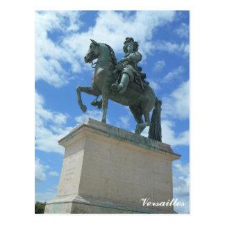 Versailles Chateau Statue of King Louis XIV. Postcard