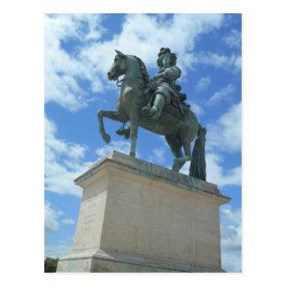 Versailles Chateau Statue of Louis Postcard
