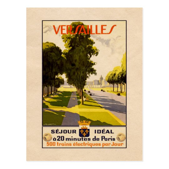 Versailles, France - Vintage Travel postcard