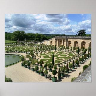 Versailles Gardens Orangerie France Palace Poster