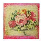 Versailles Roses Collage Custom Art Tile