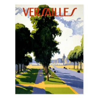 Versailles Vintage Travel Poster Restored Postcard