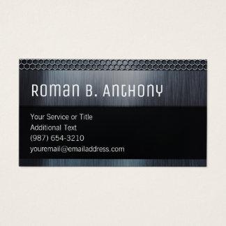 Versatile Black Masculine Steel Tech Business Card