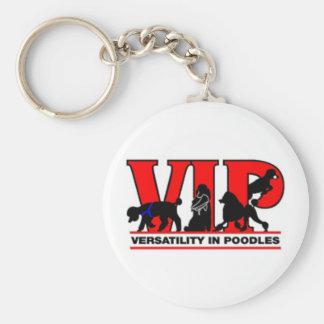 Versatility in Poodles Basic Round Button Keychain