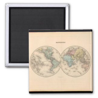 Versed World Map 12 Square Magnet