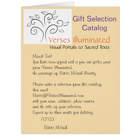Verses Illuminated Gift Selection Catalogue Card