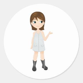 version final fillette round sticker
