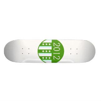 Version ronde de partie de couleur verte du joint  skateboards personnalisés
