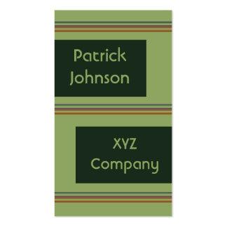 vert avec les rayures bronzages carte de visite standard