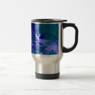 Vert bleu de forêt de jardins de cascades mug à café