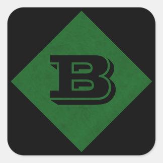 Vert casino à la maison personnalisé véritable par sticker carré