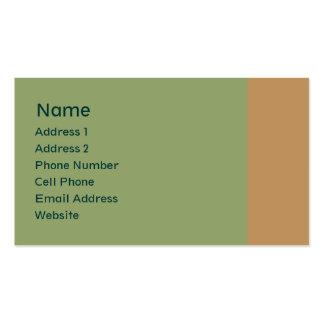 vert clair avec la plaine bronzage carte de visite standard