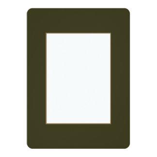 Vert de botte de jardin dans un jardin anglais de carton d'invitation  13,97 cm x 19,05 cm