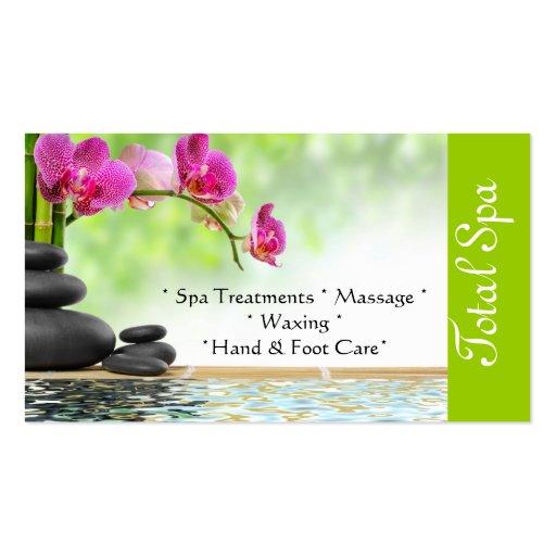 vert de carte de visite de salon de massage de spa zazzle. Black Bedroom Furniture Sets. Home Design Ideas