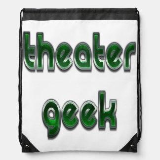 Vert de geek de théâtre sac à dos