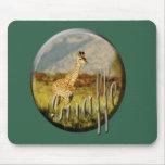 Vert de mousepads de safari de faune de bébé de gi tapis de souris