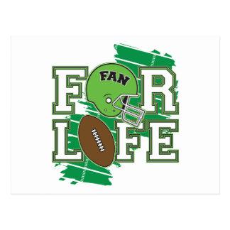 Vert de passioné du football cartes postales
