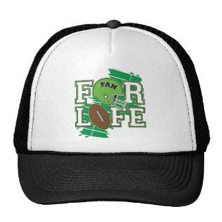 Vert de passioné du football casquettes