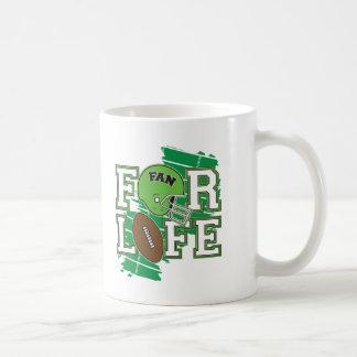 Vert de passioné du football mug
