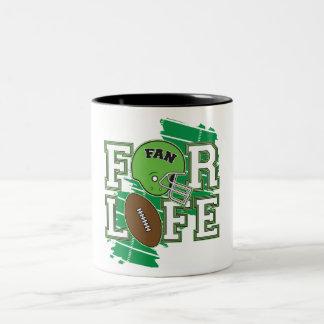 Vert de passioné du football tasses à café