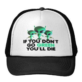 Vert drôle casquettes de camionneur