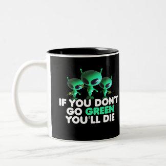 Vert drôle mugs à café
