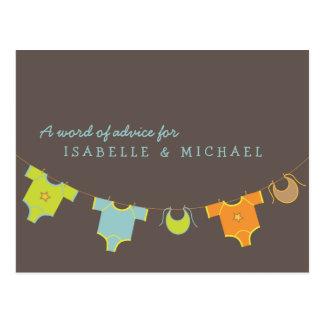 Vert du bleu   de carte de conseil de baby shower