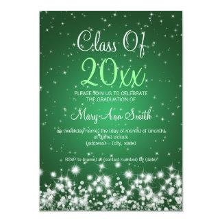 Vert élégant d'étincelle d'hiver de fête de remise invitations personnalisées