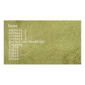 Vert en soie d'étincelle du satin ART101 Cartes De Visite Personnelles
