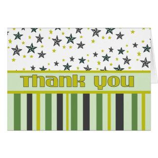 Vert et jaune de Merci Carte De Vœux