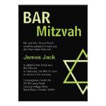 Vert et noir modernes d'invitation de Mitzvah de b