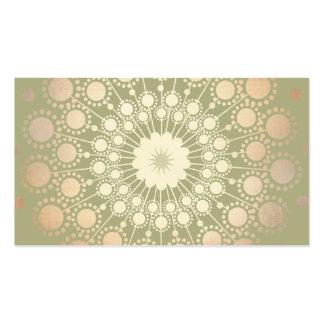 Vert fleuri de motif de cercle d'or brillant très carte de visite standard