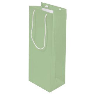 Vert sauge sac cadeau bouteille de vin