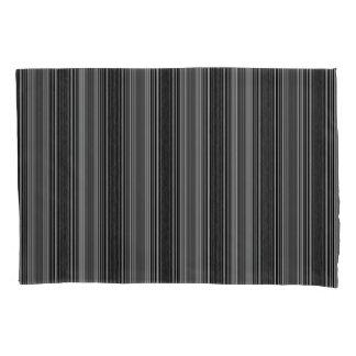 Vert/Stripes Grays Modern Pillowcase Set