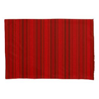 Vert/Stripes Red Modern Pillowcase Set