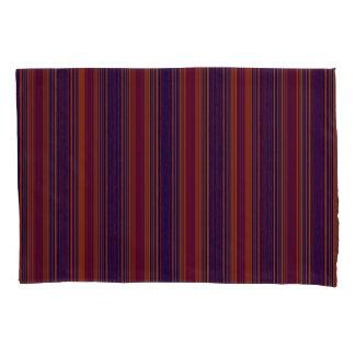 Vert/Stripes Reds Blues Modern Pillowcase Set