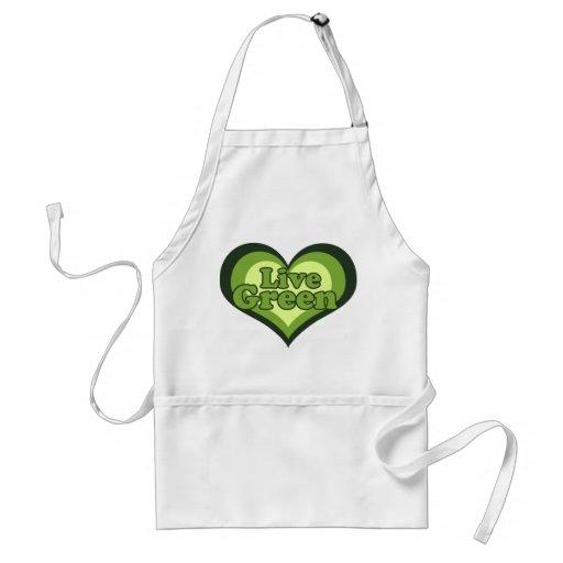 Vert vivant pour le jour d'Eath Tabliers