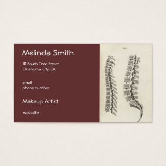 Vertebrae Drawing Business Card