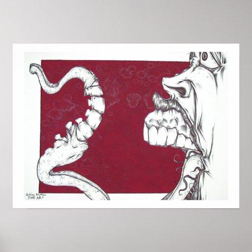 vertebrae tongue poster
