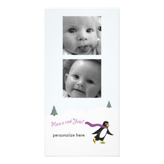 Vertical 2-photo card